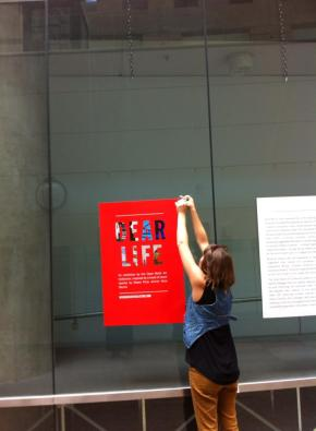 Vancouver Public Library 'Dear Life' Exhibit Set-up
