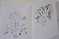 The Idiot: An Exposé On Foolishness Breanne McDaniel Handmade book of Photocopy drawings