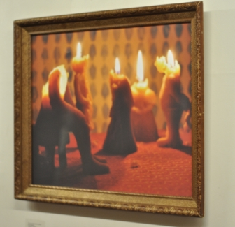 I Came Here With a Pain in My Heart Jenny Hawkinson Photograph of diorama with handmade beeswax candles