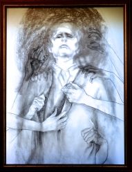 Those Who Touch His Cloak Cara Bain Charcoal on Paper