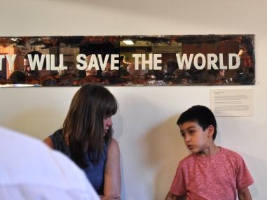 Beauty Will Save The World Katrina Stock Etched Mirror, Mixed Media