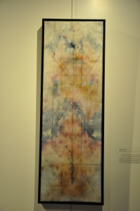 All Roads Lead to Terminus | Katrina Stock | Encaustic (beeswax and damar resin), oil stick, Ice dye on silk